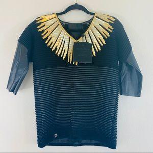 NWT Philip Plein Golden Heart Pullover XS